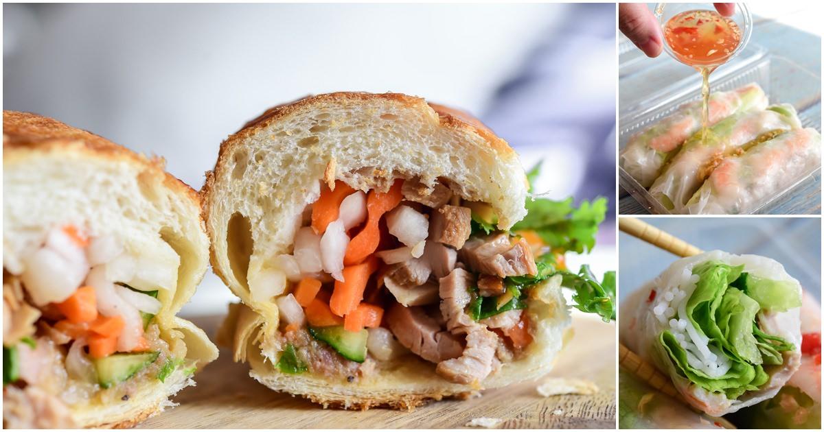越南法國麵包 生菜春卷